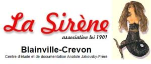 Logo de l'association La sirène dépositaire des collections d'Anatole Jakovsky